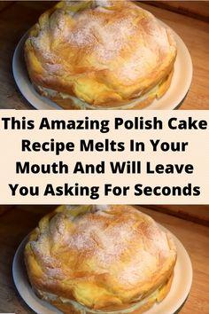 Polish Cake Recipe, Polish Recipes, Polish Desserts, Polish Food, Just Desserts, Delicious Desserts, Yummy Food, Baking Recipes, Cake Recipes
