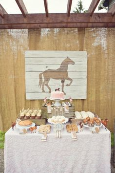 Vintage Birthday Party love the horse sign Nichole that would be cute for the girls party