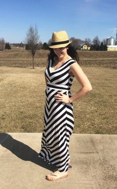 Striped Maxi with Fedora Hat Striped Maxi b13dcc0dbc5