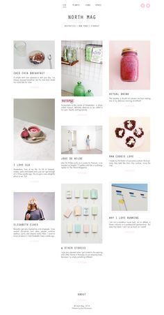 Web design inspired by... pinterest maybe...