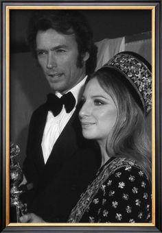 Art Print: Clint Eastwood and Barbara Streisand Wall Art : Clint Eastwood Poster, Actor Clint Eastwood, Scott Eastwood, Brooklyn, Classic Hollywood, Old Hollywood, Hollywood Icons, Hollywood Glamour, Barbara Streisand