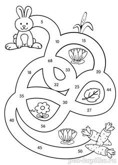 Математические лабиринты в картинках для детей