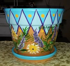 "10"" Clay Flower Pot"
