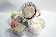 cupcakes, chocolate, vanilla & marzipan