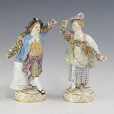 Lot: 18th Century Meissen Porcelain Figurines, Lot Number: 0487, Starting Bid: $1,000, Auctioneer: Akiba Antiques, Auction: Eclectic Collection Of Estates Worldwide, Date: July 27th, 2017 EEST