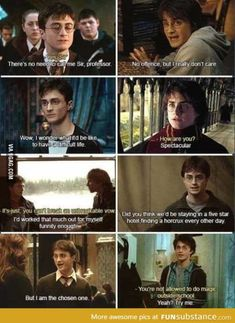 Harry Potter has almost as much sass as Percy Jackson