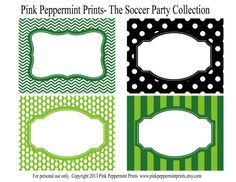 NEW INSTANT DOWNLOAD The Soccer Party Collection Printable Labels on Etsy, $6.50