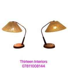 Danish 1950s Table Lamps Wood and Copper with Original Jute Shade. Re-wired.  For more info contact Emilia 07811008144 or emiliaporto@aol.com @alfiesantiques @timeoutlondon @elledecor #interiors #design #home #inspiration #furniture #midcentury #lighting #Marylebone #London #Chelsea #house #designer #bright #modern #vintage #antique #decor #designinterior #decoration #light #ideas #architecture #interior #interiordesign #danish