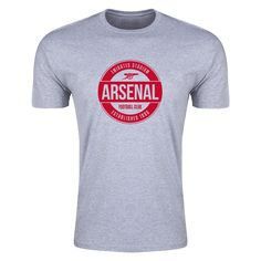 Arsenal FC Circle Badge Supersoft T-Shirt (Gray) - WorldSoccershop.com | WORLDSOCCERSHOP.COM