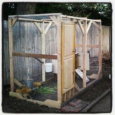 how to build a chicken coop from a swing set