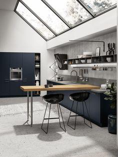 20 Dark Kitchen Ideas For Every Kitchen Size Kitchen Desks, Life Kitchen, Smart Kitchen, Kitchen Cupboards, Home Decor Kitchen, Kitchen Layout, Kitchen Size, Kitchen Pantry, Kitchen Storage