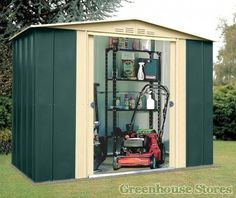canberra 8x5 metal apex shed