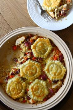 Chicken, Cheddar and Fingerling Potato Tart - making this tonight!  Going to add some green beans to it as well. Veg Dishes, Dinner Dishes, Main Dishes, Turkey Recipes, Chicken Recipes, Fall Recipes, Fingerling Potatoes, One Pot Meals, Easy Meals