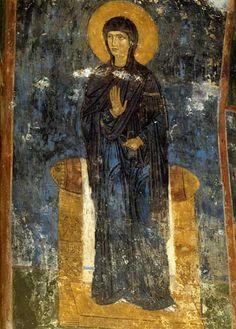 Богоматерь Фреска на юго-восточном столпе.