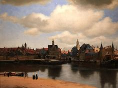 View of Delft by Vermeer, such a magnificent painting, the way in which the light has been captured in it is simply amazing
