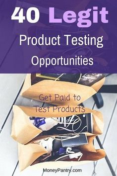 Paid Product Testing