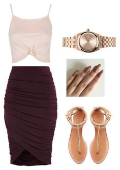 """summer"" by aalayjaellis ❤ liked on Polyvore featuring Zara, Topshop and Nixon"