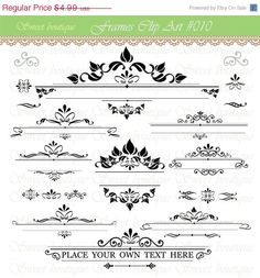 25% OFF SALE 22 Digital Frames clip art clipart with Digital Paper pack - scrapbook, tags, invitation, stationary 0010