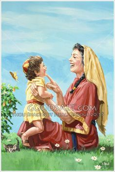 """Honour thy father and thy mother: that thy days may be long upon the land which the Lord thy God giveth thee."" KJV Exodus 20:12  Mother and Child  The Pacific Press Collection  http://www.goodsalt.com/details/pppas0066.html #mother #child #play #love"