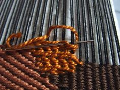Freestyle weaving tutorial. Chain Stitches.