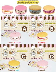 Cafe Sakura Squishy Cookie & Ice Cream Cell Phone Charms