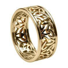 Pierced Trinity Knot Ring with Trim