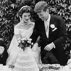 Bolo do casamento de Jonh Kennedy e Jacqueline .