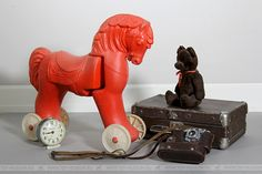 USSR toy horse,  80-е  СССР, Конь-богатырь Virtual Museum, Antique Toys, Lion Sculpture, Horses, Statue, Antiques, Art, Antiquities, Art Background