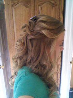Wedding Hair: Half Up, Half Down