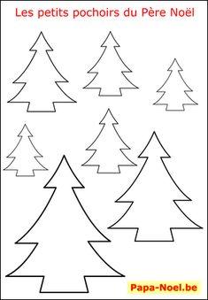 imprimer un pochoir de sapin de Noël gratuit pochoirs de NOEL sapins de NOEL
