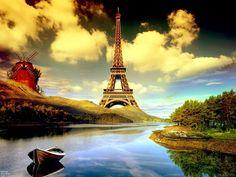 Eiffel Tower Cartoon HD Wallpaper 1080p