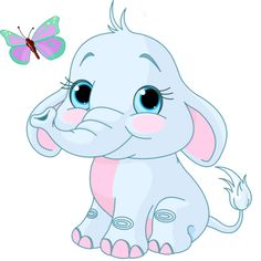 Cute Cartoon Elephants | Cute Cartoon Elephant Clip Art | Cute,Fun ...