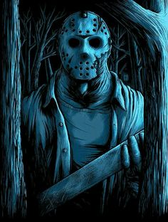 Matthew Johnson Friday the Welcome To Camp Crystal Lake Prints - Matthew Johnson Friday the Welcome To Camp Crystal Lake Prints - Horror Movie Characters, Horror Movies, Friday The 13th Tattoo, Horror Drawing, Horror Artwork, Horror Icons, Arte Horror, Scary Movies, Funny Movies