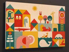 Petit Collage – vintage nursery art with a modern twist
