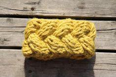 Super chunky braided headband pattern
