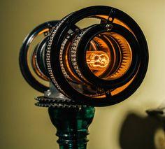 Steampunk Lamp Atlas Steampunk Lamp by Futility Studios