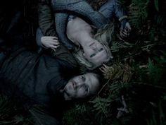 Still of Gustaf Skarsgård and Maude Hirst in Vikings (2013)
