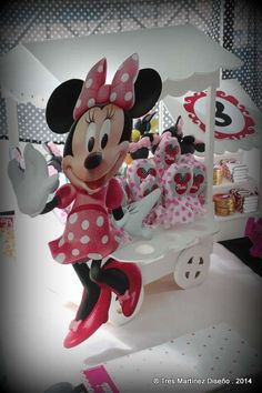 Cute decorations at a Minnie Mouse birthday party!  See more party planning ideas at CatchMyParty.com!
