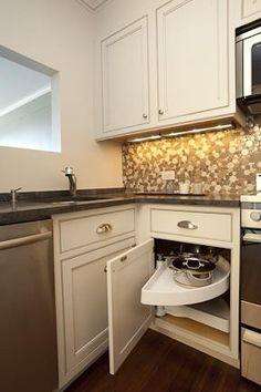 Kitchen corner cabinet   http://www.houzz.com/photos/183783/Beacon-Hill-Condo-contemporary--boston