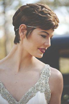 1930s vintage pixie cut short wedding hairstyles