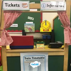 Familiarise your children with train stations using our fun role play pack? Eyfs Activities, Train Activities, Camping Activities, Role Play Areas Eyfs, Preschool Set Up, Transport Topics, Transportation Theme, Play Centre, Dramatic Play