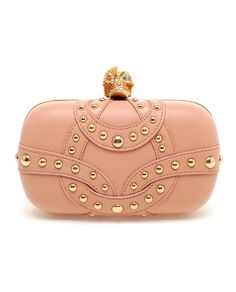 Studded Leather Box Clutch by ALEXANDER MCQUEEN