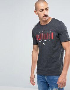 Puma | Puma – Blaues T-Shirt mit Logo, 83833107