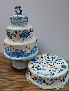 Delfts Blauw Wedding cake set by CAKE Amsterdam - Cakes by ZOBOT, via Flickr