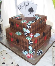 Poker Chips: would be an awesome groom's cake. Description from pinterest.com. I searched for this on bing.com/images