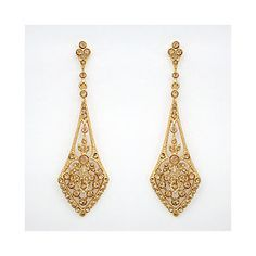 Gold Wedding Earings; not a big fan of gold; however, these are very pretty.