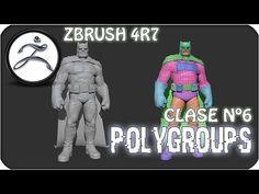 Zbrush en Español #6   Polygroups (Poligrupos) - YouTube