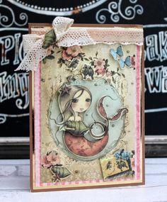 Santoro Mirabelle Mermaid card by Katie Skilton