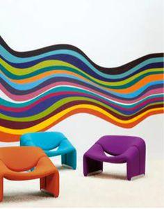 The 1970's Colours  by Ressource Peinture. Geweldige verf in vele authentieke kleuren.