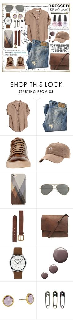"""""""DRESSES LIKE MY MAN"""" by celine-diaz-1 ❤ liked on Polyvore featuring Xirena, Diesel, Samsung, Parasol, Ted Baker, Topshop, Marco Bicego and Tim Holtz"""